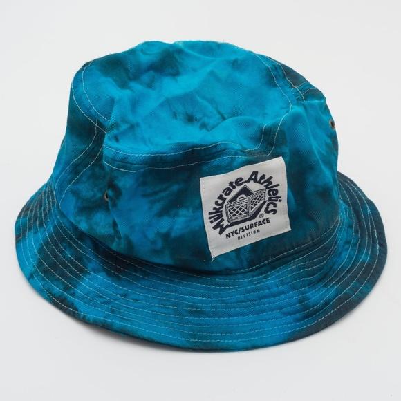 Milkcrate Aesthetics Blue Tie Dye Bucket Hat 7b3fcba07d70